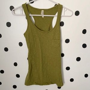 🌈5/$25🌈color story green tank front pocket s